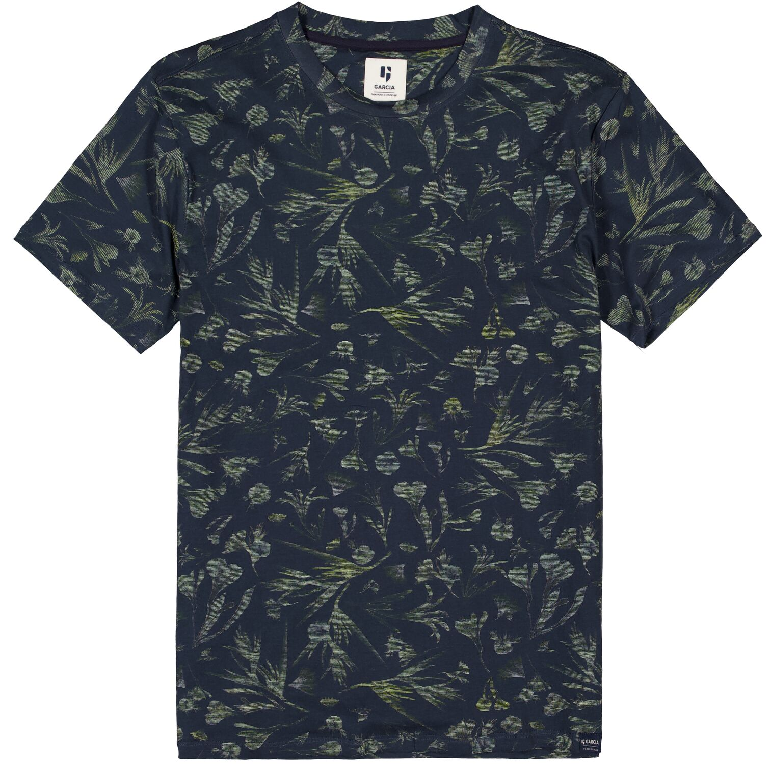 T-shirt ανδρικό fullprint με στρογγυλή λαιμόκοψη Garcia Jeans (C11004-292-DARK-MOON-BLUE)