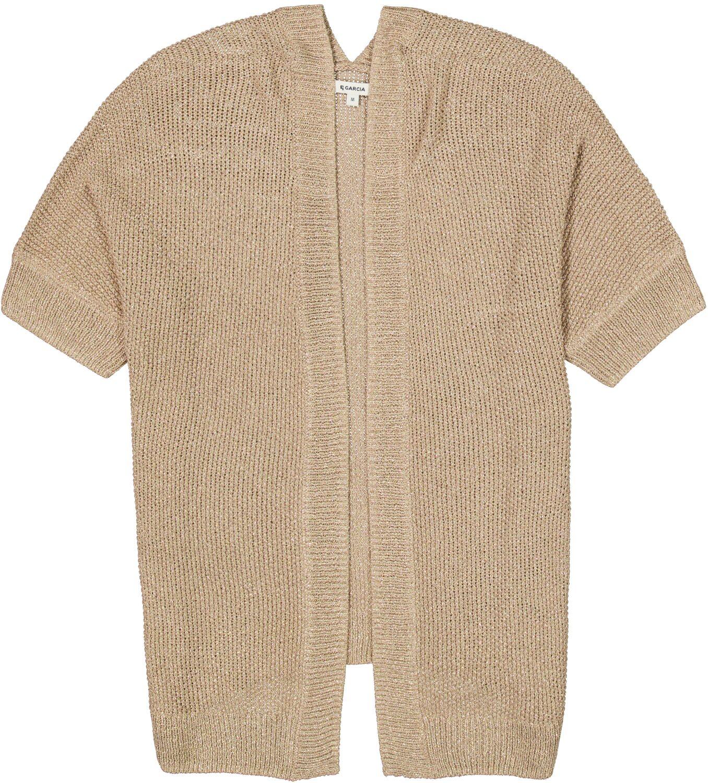 Ζακέτα γυναικεία με κοντό μανίκι χωρίς κούμπωμα Garcia Jeans (D10051-09-TAN-BROWN)