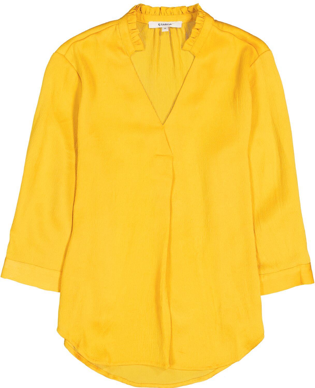 Μπλούζα γυναικεία με λαιμόκοψη V και μανίκι 3/4 Garcia Jeans (GS100231-3065-SULPHUR-YELLOW)