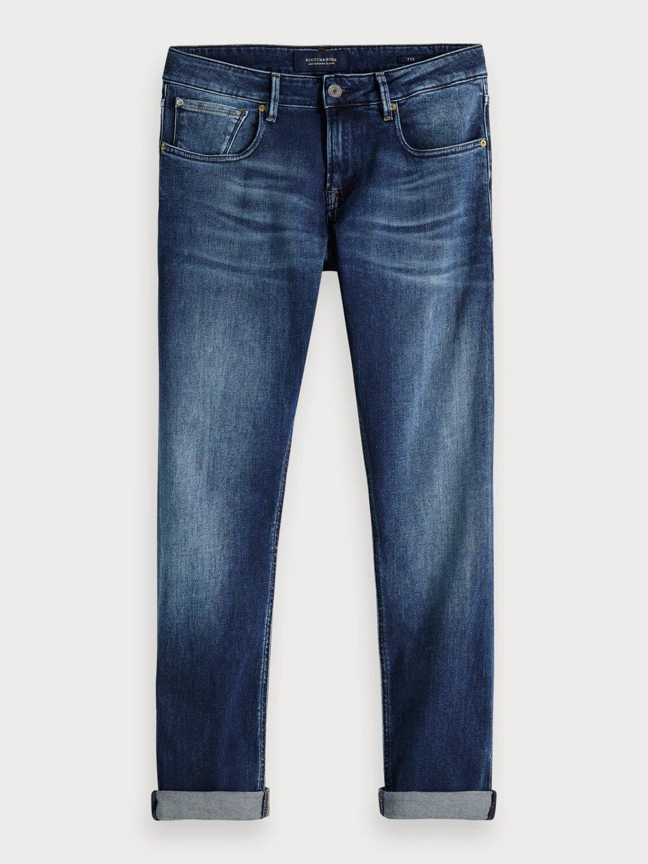 Παντελόνι με φερμουάρ σε slim carrot γραμμή Scotch & Soda (150952-3069-GET-KNOTTED-BLUE)