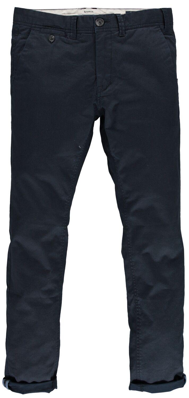 Παντελόνι ανδρικό chino με φερμουάρ και μικροσχέδιο Garcia Jeans (GS010151-292-DARK-MOON-BLUE)